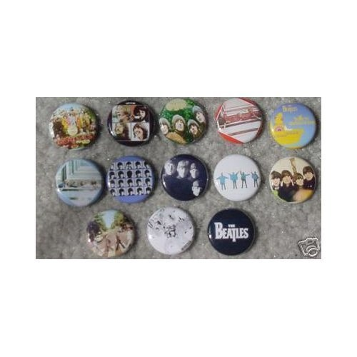 Set of 13 Beatles One Inch Buttons / Pins / Badges