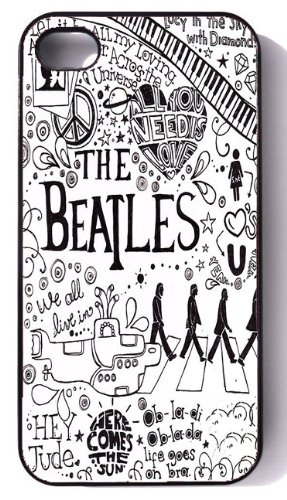 Black Iphone 4/4s Case — The Beatles Black and White