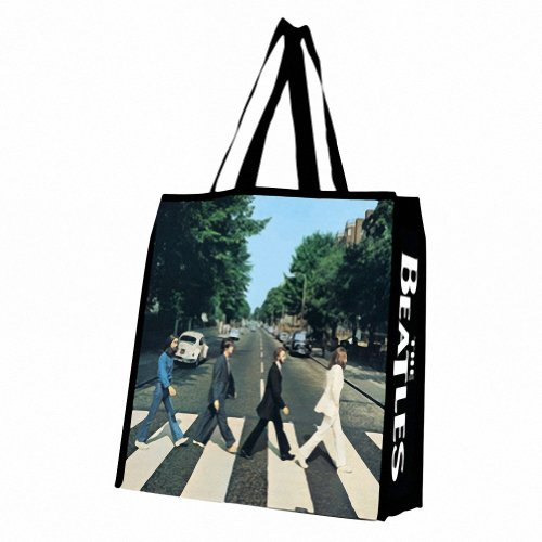 Vandor 64980 The Beatles Abbey Road Large Recycled Shopper Tote, Multicolored