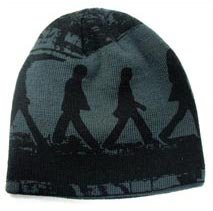 The Beatles Abbey Road Printed Knit Beanie Hat