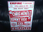 The BEATLES LIVERPOOL EMPIRE CONCERT MARCH  1963 POSTER-FLYER