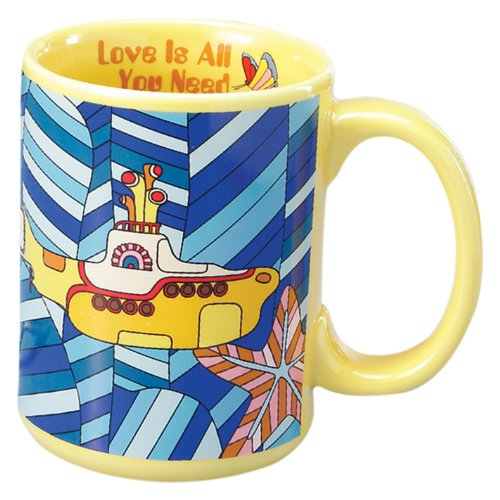 Vandor 64164 The Beatles Mug, Submarine, Yellow, 14-Ounce